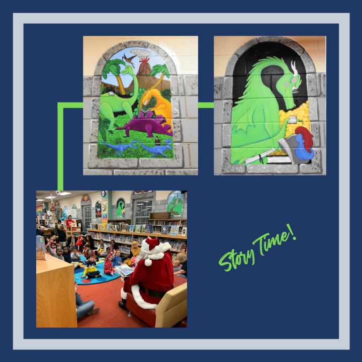 Children's Area Mural and Story Time